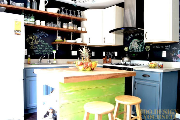 Fun Bright Kitchen Makeover