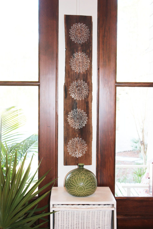 Stenciled Wood Plank