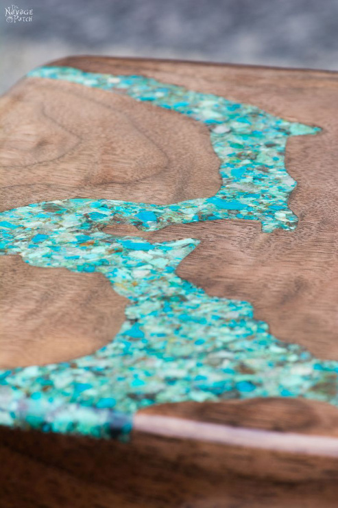Turquoise Inlay Cheese Board