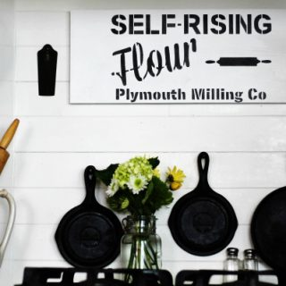 Farmhouse Kitchen Decorating Stenciled Wooden Sign