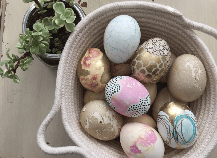 Polish-Inspired Naturally Dyed Easter Eggs