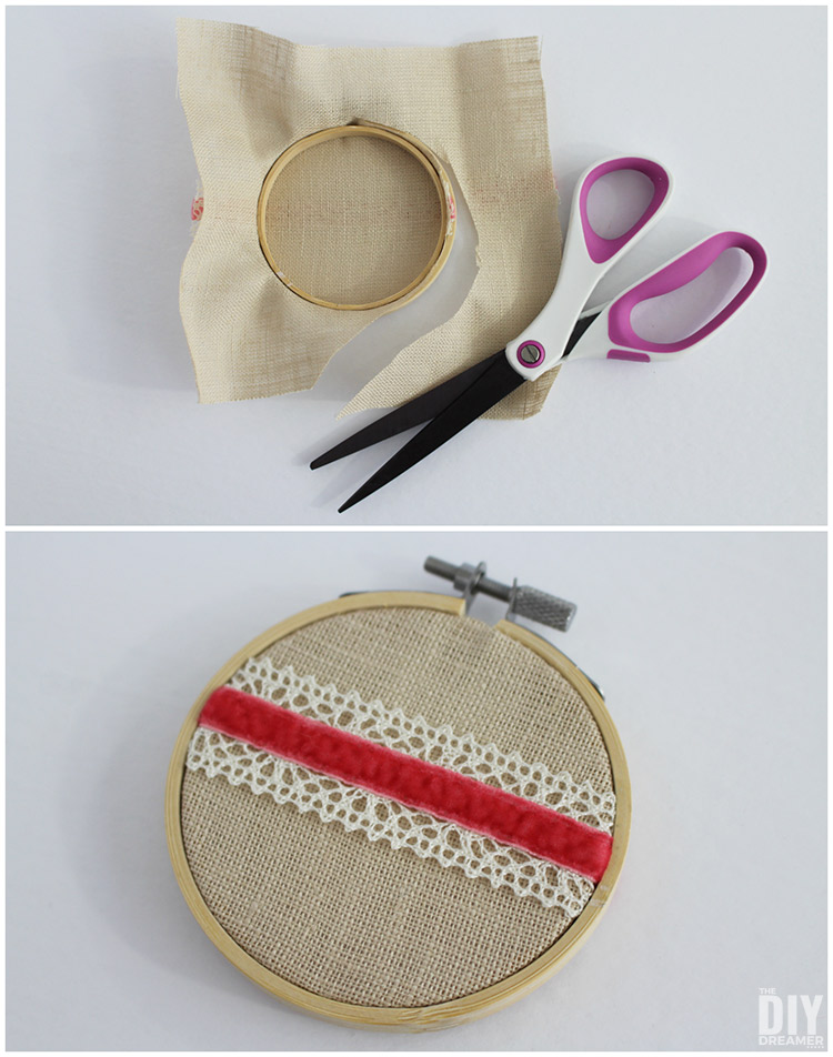 How to remove extra fabric from an embroidery hoop