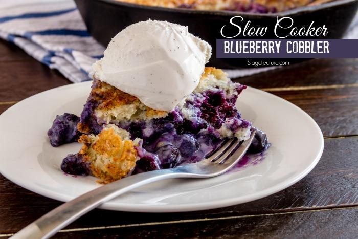 Slow Cooker Dessert Blueberry Cobbler