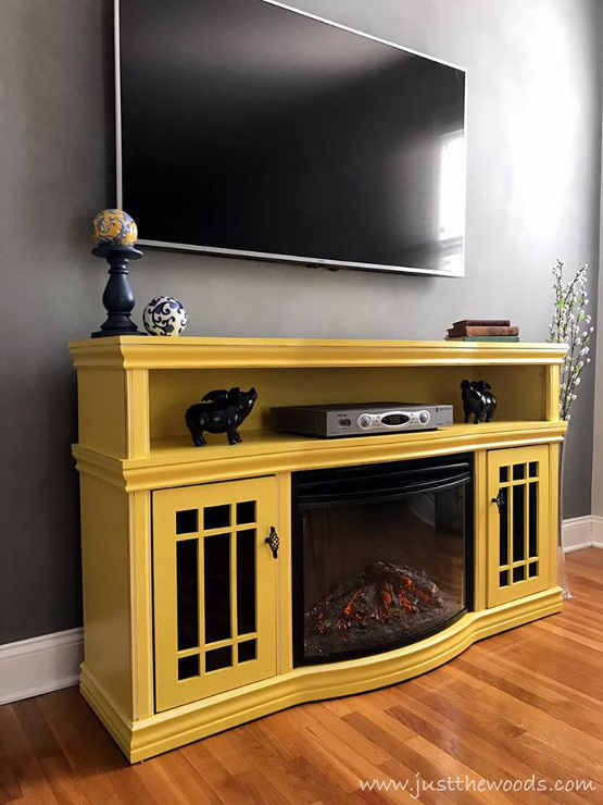 Painted Media Console in Sunshine Yellow