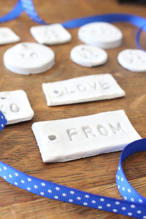 Using Air Dry Clay to Make Rustic Gift Tags
