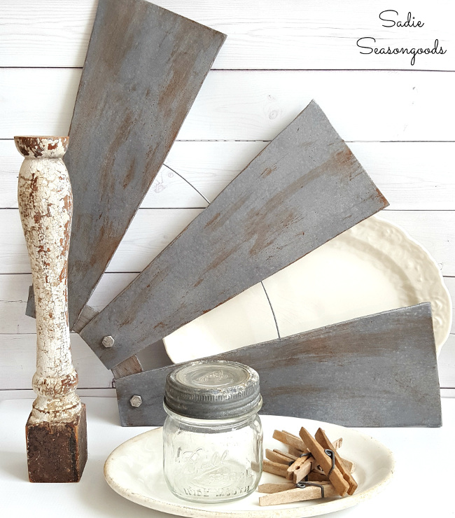 Revamped Ceiling Fan Blades, Farmhouse-Style