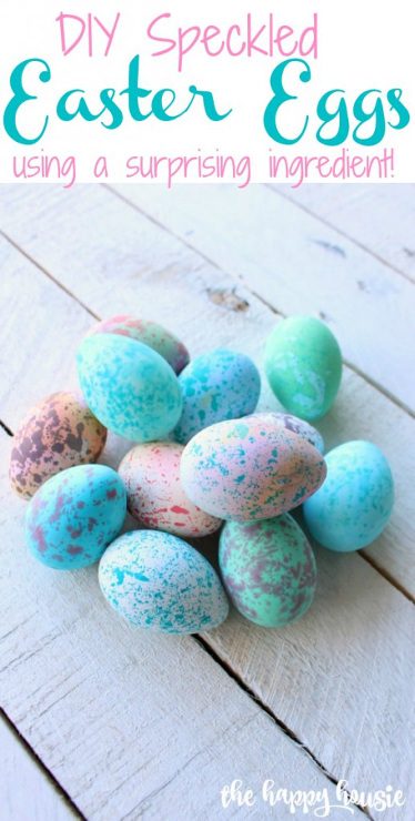 Quick and Easy DIY Speckled Easter Eggs
