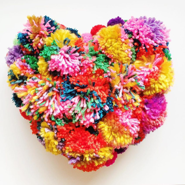 DIY Pompom Covered Pillows
