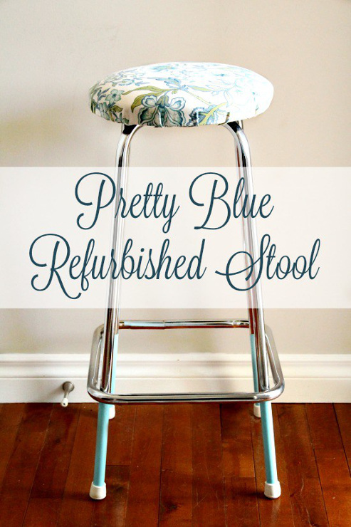 Refurbished Stool for the Craft Room