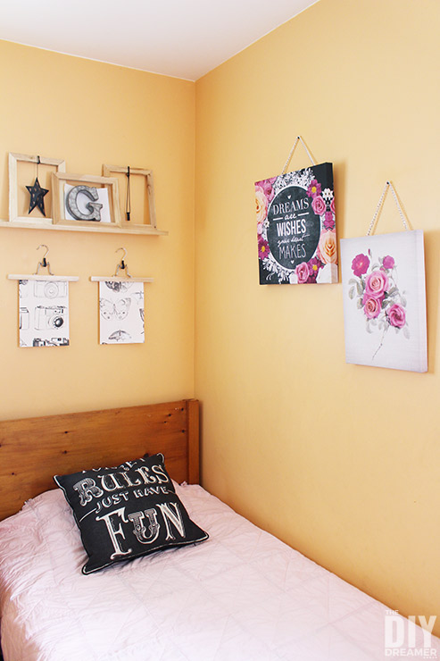 How to make rustic frames to use for a gallery wall.