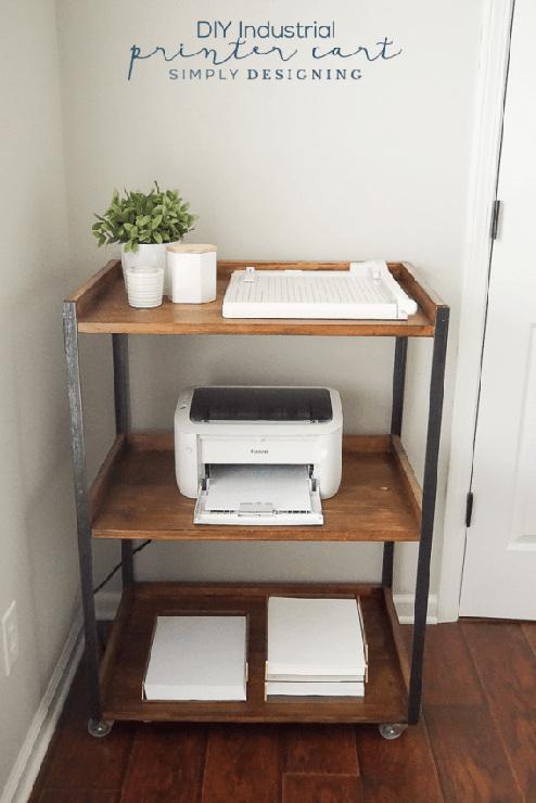 Industrial DIY Printer Cart