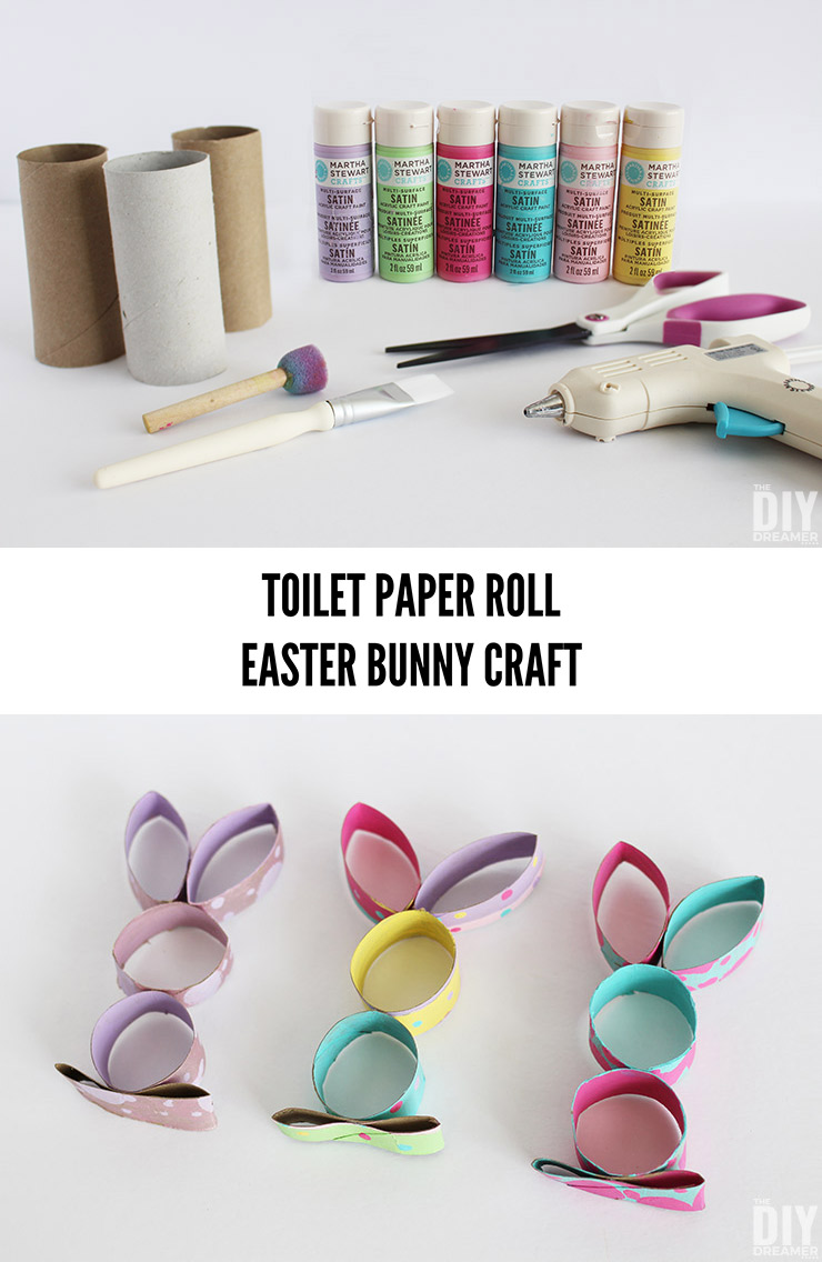 Quick and Easy Easter Craft using toilet paper tubes.
