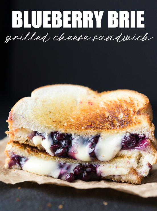 Blueberry Brie Grilled Cheese Sandwich
