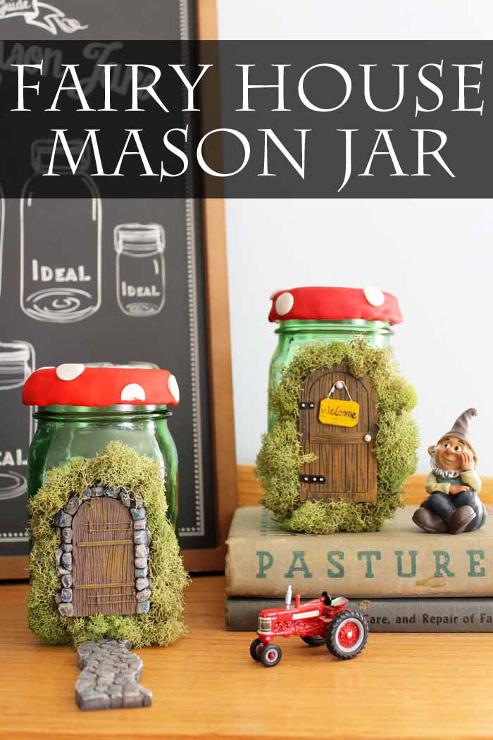 Fairy House Mason Jar