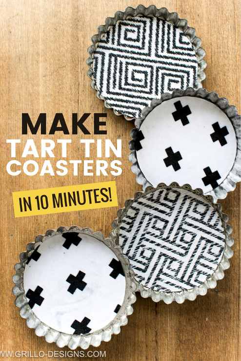 How To Make Coasters From Tart Tins