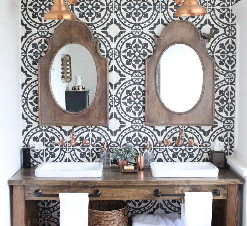 Modern Farmhouse Bathroom Renovation Reveal