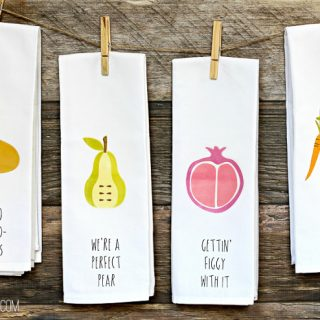 Fun with Puns DIY Kitchen Towels