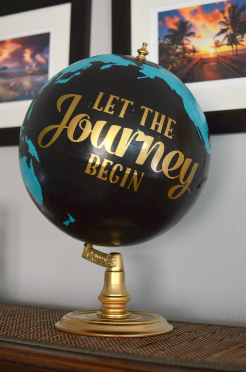 Upcycled and Painted Thrift Store Globe