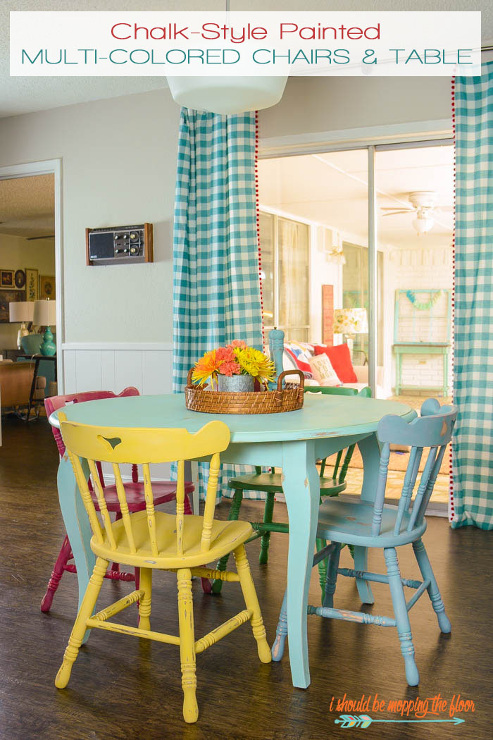 Table and Chairs Makeover with Chalk-Style Paint
