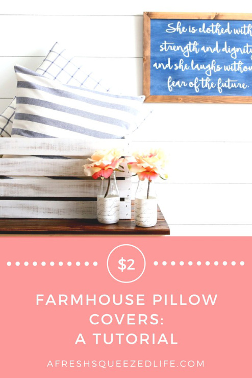 $2 Farmhouse Pillows Covers