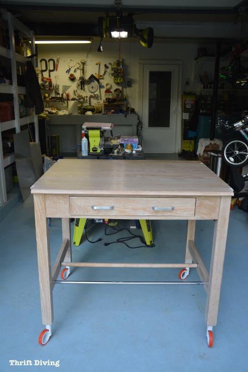 Strip Furniture: A Natural Wood Furniture Makeover. DIY Garage Workbench