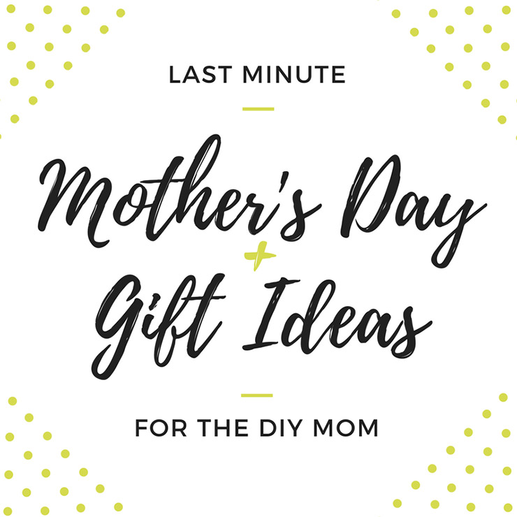 Last Minute Mother 39 S Day Gift Ideas For The Diy Mom