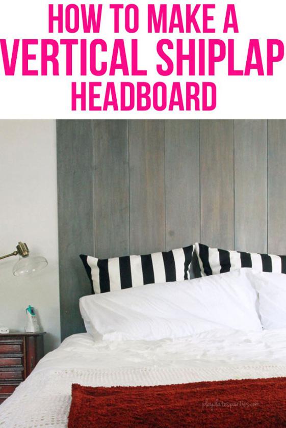 How to Make a Vertical Ship-lap Headboard