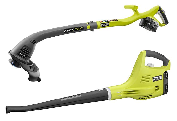 RYOBI ONE+ 18V Electric 10-inch String Trimmer and Blower