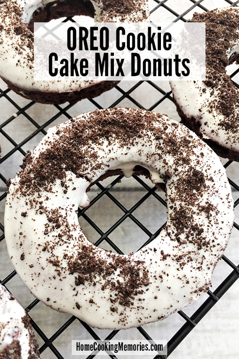 OREO Cake Mix Donuts Recipe