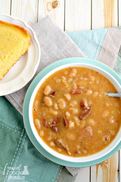 Slow Cooker Soup Beans & Ham