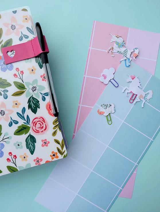Super Simple DIY Unicorn Planner Bookmarks