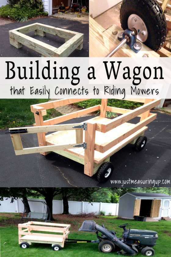 DIY Wagon for lawn mower