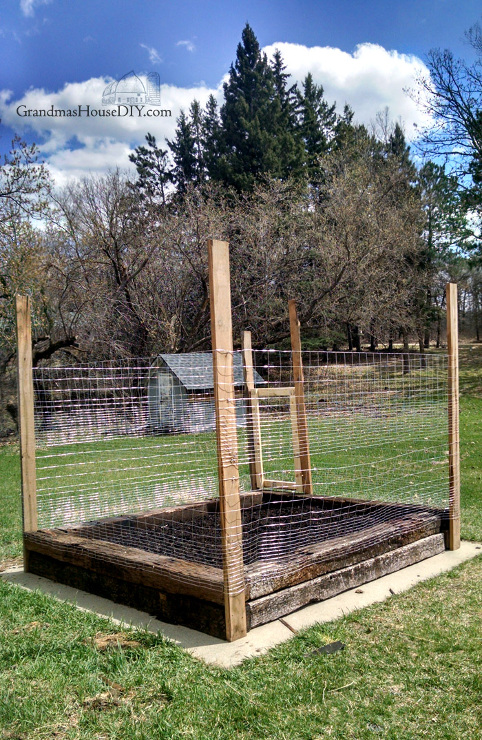 How to DIY Build a Small Garden with Railroad Ties and the dangers of creosote.