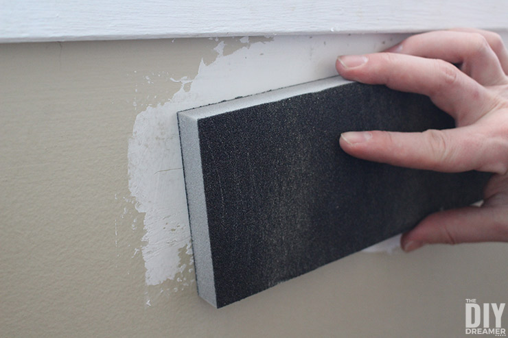 How to sand drywall compound.