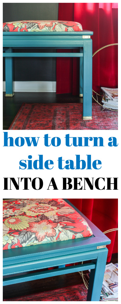How to Turn a Side Table Into a Bench