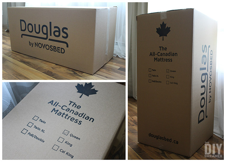 Douglas mattress delivered in a box