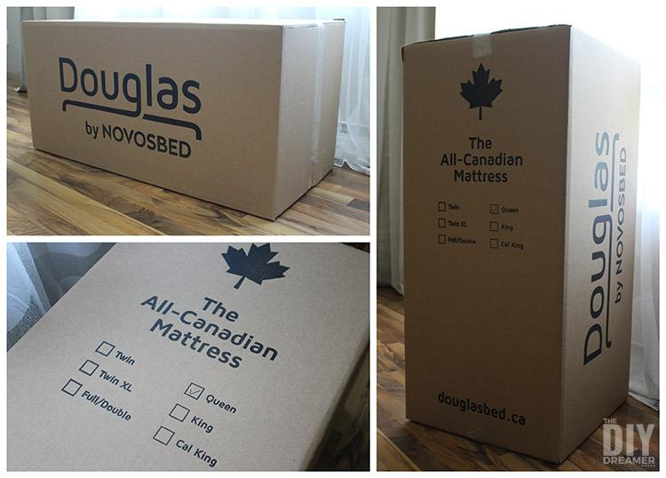 Douglas mattress delivered in a box