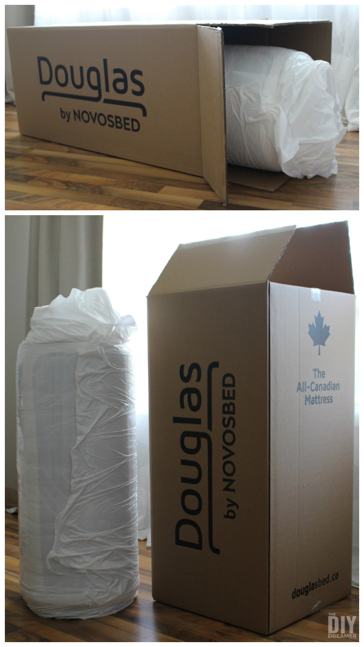 Douglas mattress by NOVOSBED. Mattress made in Canada and delivered in a box.