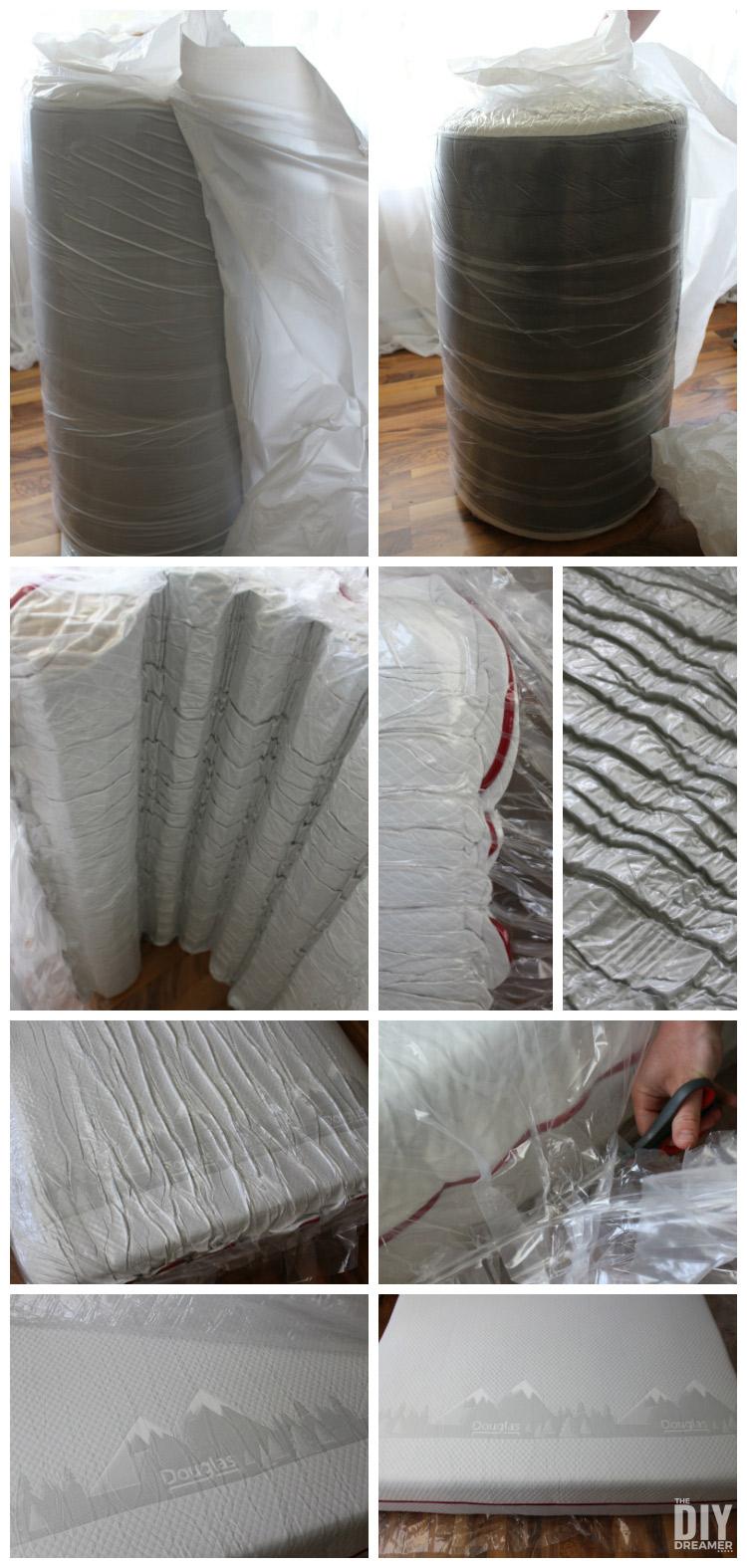 How to unwrap a mattress in a box