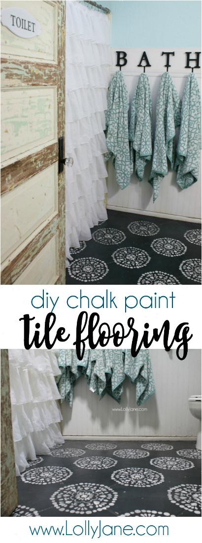 DIY Chalk Paint Tile Flooring