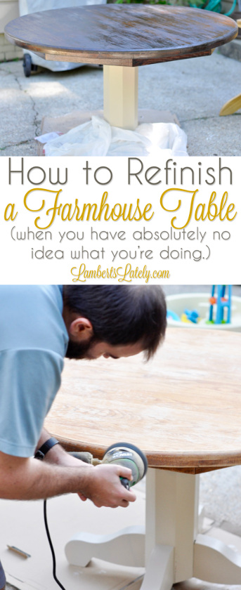 How to Refinish a Farmhouse Table