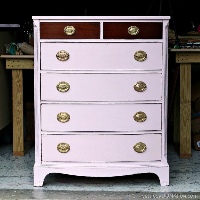 Barely Pink & Original Wood Finish