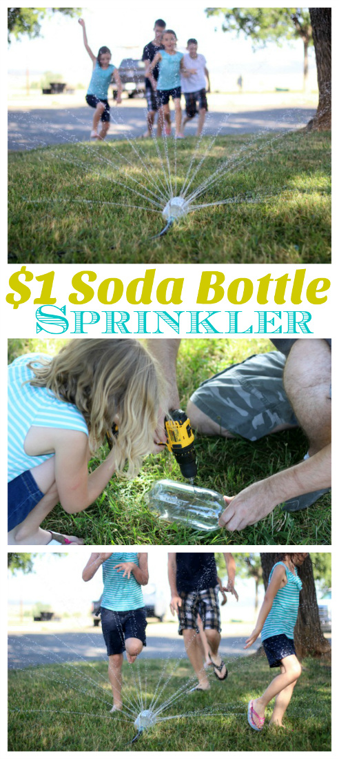 $1 Soda Bottle Sprinkler - Fun outdoor project for the whole family.