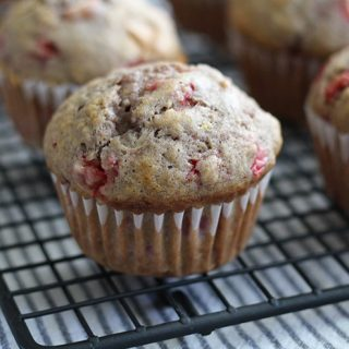 Strawberry Muffins Recipe made with fresh strawberries