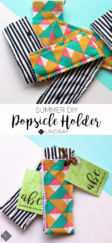 DIY Popsicle Holder. Fun sewing project for summer.