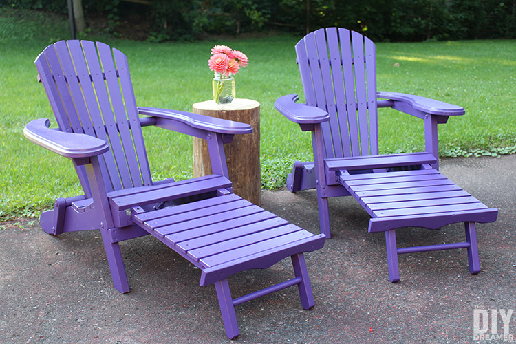 Adirondack chairs with footrest