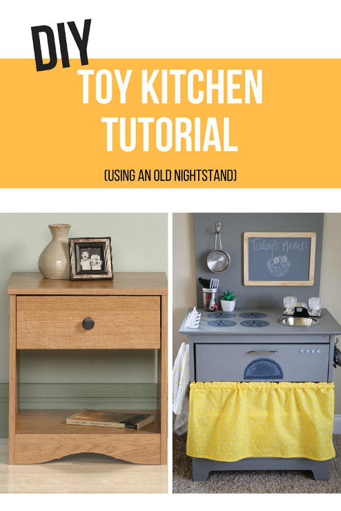 From Nightstand to DIY Toy Kitchen