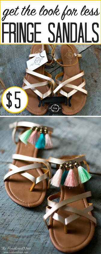 DIY Fringe Sandals