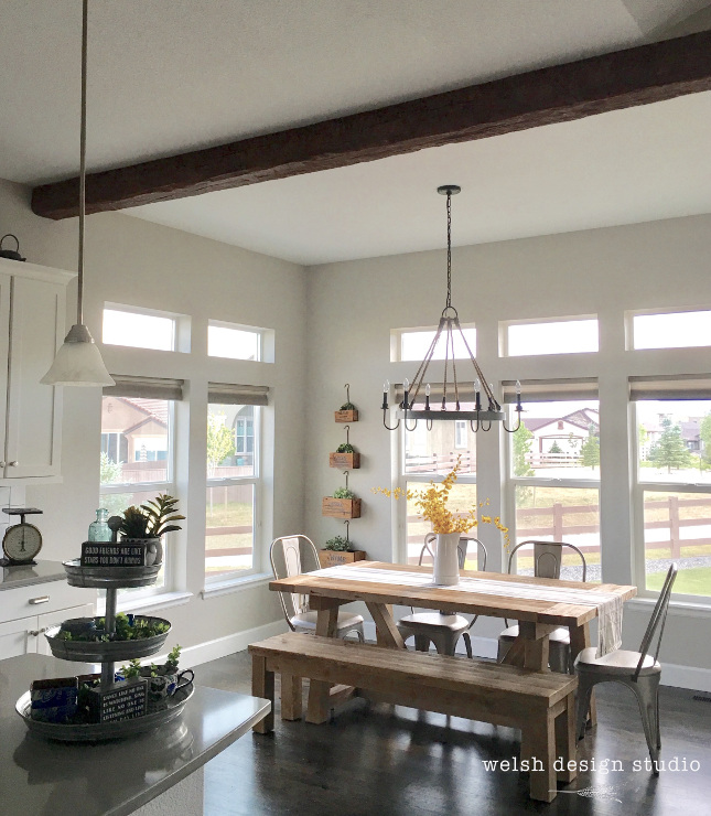 Faux Wood Beam in the Kitchen
