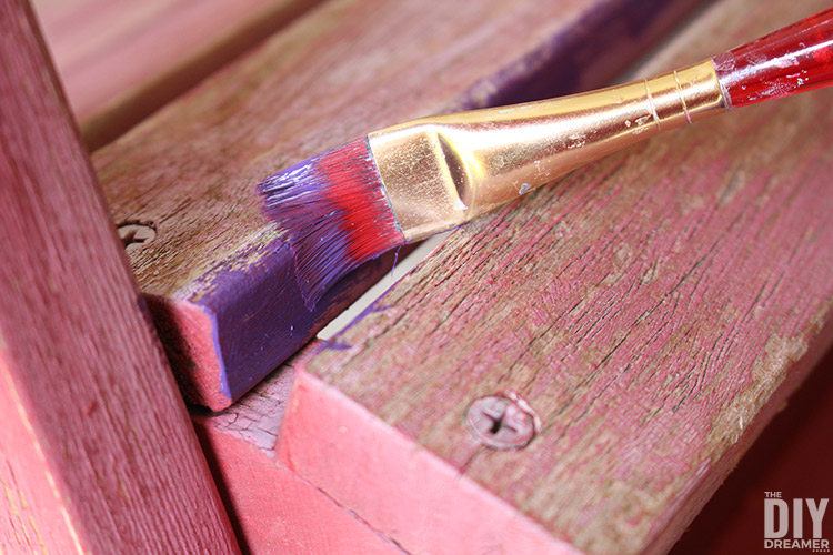 Use small paint brushes to paint tighter spaces.